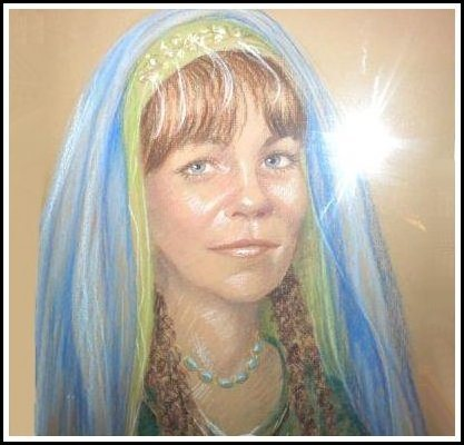 acrylic portrait from Pennsic
