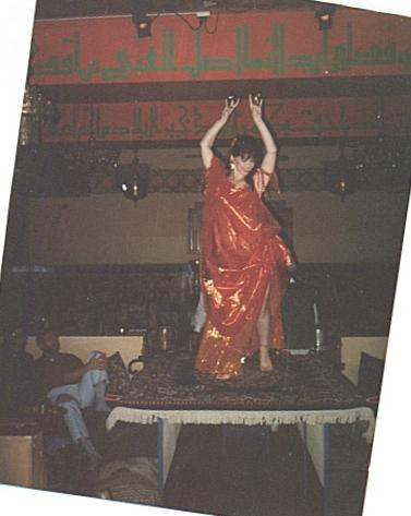 belly dancing at Marrakesh onstage