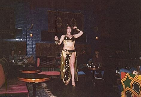 Anthea performing Cane dance