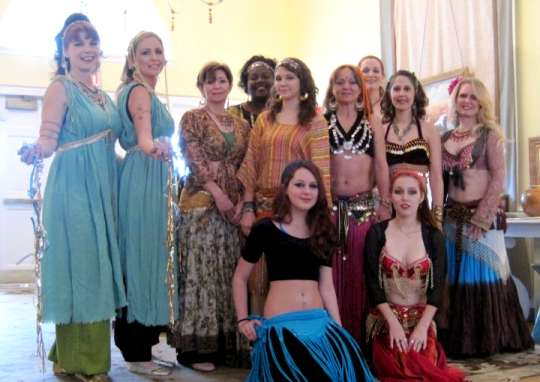 bellydancers group photo