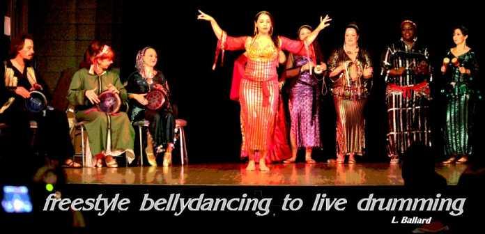 live belly           dance improvisation onstage